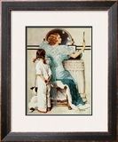 """Going Out"", October 21,1933 Framed Giclee Print by Norman Rockwell"