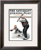 """Gramps at the Plate"" Saturday Evening Post Cover, August 5,1916 Framed Giclee Print by Norman Rockwell"