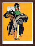 """Hatcheck Girl"", May 3,1941 Framed Giclee Print by Norman Rockwell"