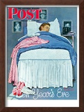"""New Year's Eve"" Saturday Evening Post Cover, January 1,1944 Framed Giclee Print by Norman Rockwell"