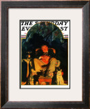 """Dreams"" Saturday Evening Post Cover, February 16,1929 Framed Giclee Print by Norman Rockwell"