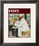 """How to Diet"" Saturday Evening Post Cover, January 3,1953 Framed Giclee Print by Norman Rockwell"