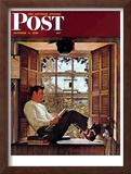 """Willie Gillis in College"" Saturday Evening Post Cover, October 5,1946 Framed Giclee Print by Norman Rockwell"