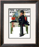 """Jazz It Up"" or ""Saxophone"" Saturday Evening Post Cover, November 2,1929 Framed Giclee Print by Norman Rockwell"