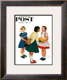 """Missing tooth"" Saturday Evening Post Cover, September 7,1957 Framed Giclee Print by Norman Rockwell"