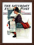 """Airplane Trip"" or ""First Flight"" Saturday Evening Post Cover, June 4,1938 Framed Giclee Print by Norman Rockwell"
