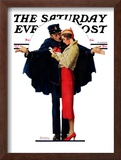 """Lost in Paris"" or ""Boulevard Haussmann"" Saturday Evening Post Cover, January 30,1932 Framed Giclee Print by Norman Rockwell"