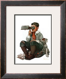 """""""Stereopticon"""" or """"Sphinx"""", January 14,1922 Framed Giclee Print by Norman Rockwell"""