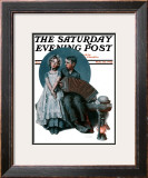 """Accordionist"" or ""Serenade"" Saturday Evening Post Cover, August 30,1924 Framed Giclee Print by Norman Rockwell"
