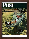 """On Leave"" Saturday Evening Post Cover, September 15,1945 Framed Giclee Print by Norman Rockwell"