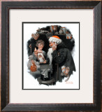 """Playing Santa"", December 9,1916 Framed Giclee Print by Norman Rockwell"