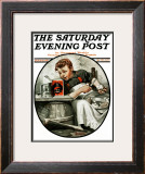 """Mom's Helper"" or ""Peeling Potatoes"" Saturday Evening Post Cover, January 29,1921 Framed Giclee Print by Norman Rockwell"