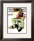 """""""Sheriff and Prisoner"""" Saturday Evening Post Cover, November 4,1939 Framed Giclee Print by Norman Rockwell"""