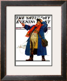 """""""Coachman with Whip"""" Saturday Evening Post Cover, December 7,1929 Framed Giclee Print by Norman Rockwell"""