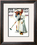 """Croquet"" or ""Wicket Thoughts"" Saturday Evening Post Cover, September 5,1931 Framed Giclee Print by Norman Rockwell"
