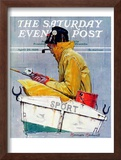 """Sport"" Saturday Evening Post Cover, April 29,1939 Framed Giclee Print by Norman Rockwell"
