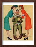 """Willie Gillis at the U.S.O."", February 7,1942 Framed Giclee Print by Norman Rockwell"