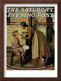 """Medicine Giver"" ""Take Your Medicine"" Saturday Evening Post Cover, May 30,1936 Framed Giclee Print by Norman Rockwell"