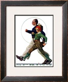 """Hikers"", May 5,1928 Framed Giclee Print by Norman Rockwell"