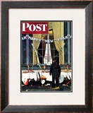 """Party's Over"" or ""Happy New Year"" Saturday Evening Post Cover, December 29,1945 Framed Giclee Print by Norman Rockwell"