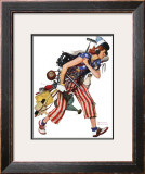 """Rosie to the Rescue"", September 4,1943 Framed Giclee Print by Norman Rockwell"