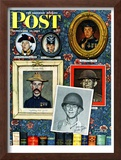 """Willie Gillis Generations"" Saturday Evening Post Cover, September 16,1944 Framed Giclee Print by Norman Rockwell"