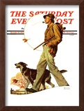 """Autumn Stroll"" Saturday Evening Post Cover, November 16,1935 Framed Giclee Print by Norman Rockwell"