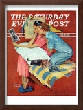 """Movie Star"" Saturday Evening Post Cover, February 19,1938 Framed Giclee Print by Norman Rockwell"