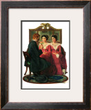"""Man Courting Two Sisters"", May 4,1929 Framed Giclee Print by Norman Rockwell"