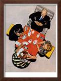 """Bridge Game"" or ""Playing Cards"", May 15,1948 Framed Giclee Print by Norman Rockwell"