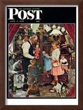 """April Fool, 1948"" Saturday Evening Post Cover, April 3,1948 Framed Giclee Print by Norman Rockwell"