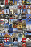 Photo-montage sur Londres Affiches