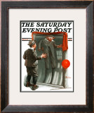 """Boy in Mirror"" or ""Distortion"" Saturday Evening Post Cover, August 13,1921 Framed Giclee Print by Norman Rockwell"