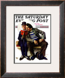 """Plot Thickens"" Saturday Evening Post Cover, March 12,1927 Framed Giclee Print by Norman Rockwell"
