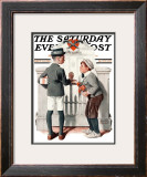 """Rivals"" Saturday Evening Post Cover, September 9,1922 Framed Giclee Print by Norman Rockwell"