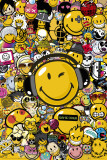 Smileys, collage Poster