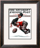 """Fumble"" or ""Tackled"" Saturday Evening Post Cover, November 21,1925 Framed Giclee Print by Norman Rockwell"