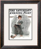 """Redhead Loves Hatti"" Saturday Evening Post Cover, September 16,1916 Framed Giclee Print by Norman Rockwell"