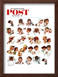 """Day in the Life of a Boy"" Saturday Evening Post Cover, May 24,1952 Framed Giclee Print by Norman Rockwell"