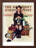 """Home from Camp"" Saturday Evening Post Cover, August 24,1940 Framed Giclee Print by Norman Rockwell"