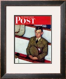 &quot;Willie Gillis in Church&quot; Saturday Evening Post Cover, July 25,1942 Framed Giclee Print by Norman Rockwell