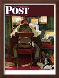 """""""It's Income Tax Time Again!"""" Saturday Evening Post Cover, March 17,1945 Framed Giclee Print by Norman Rockwell"""