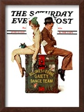 """""""Gaiety Dance Team"""" Saturday Evening Post Cover, June 12,1937 Framed Giclee Print by Norman Rockwell"""