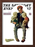 """Delivering Two Busts"" Saturday Evening Post Cover, April 18,1931 Framed Giclee Print by Norman Rockwell"