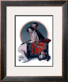 """God Bless You"" or ""Sneezing Boy"", October 1,1921 Framed Giclee Print by Norman Rockwell"