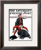"""Skating Lesson"" Saturday Evening Post Cover, February 7,1920 Framed Giclee Print by Norman Rockwell"