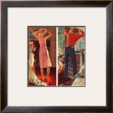&quot;Before the Date&quot;, September 24,1949 Framed Giclee Print by Norman Rockwell