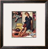 """Santa's Helper"", December 27,1947 Framed Giclee Print by Norman Rockwell"