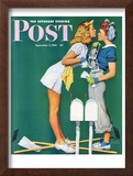 """Double Trouble for Willie Gillis"" Saturday Evening Post Cover, September 5,1942 Framed Giclee Print by Norman Rockwell"