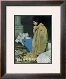 """Refugee Thanksgiving"", November 27,1943 Framed Giclee Print by Norman Rockwell"